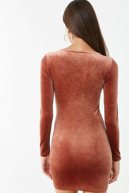 Velvet V-Neck Mini Dress, image 3