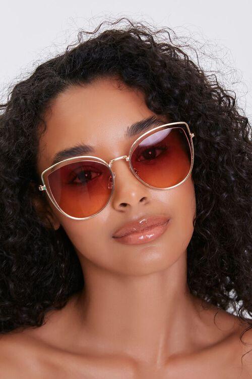 Cutout Cat-Eye Tinted Sunglasses, image 1