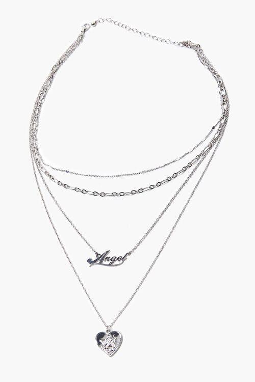 Angel Pendant Layered Necklace, image 2