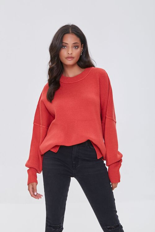 CORAL Dropped-Sleeve Sweater, image 1