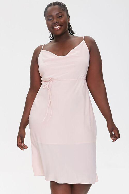 Plus Size Cowl Neck Cami Dress, image 1