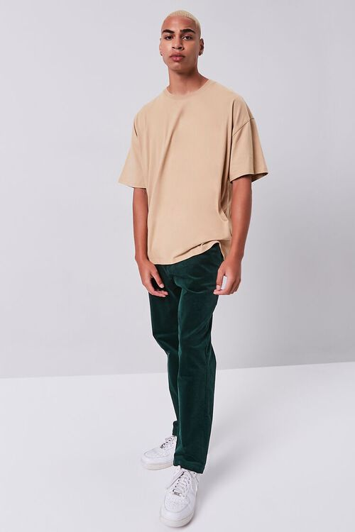 Corduroy Straight-Leg Pants, image 1