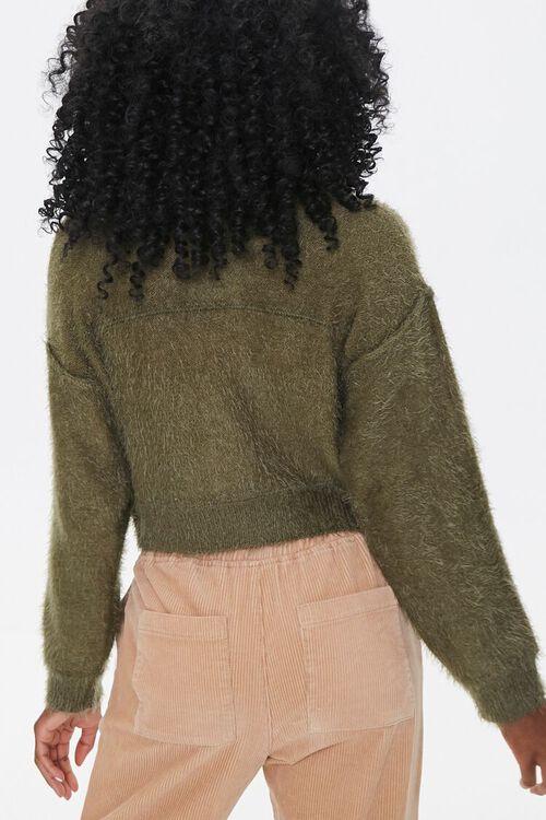 Fuzzy Knit Cardigan Sweater, image 3