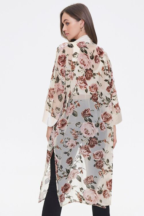 Velvet Rose Print Kimono, image 3