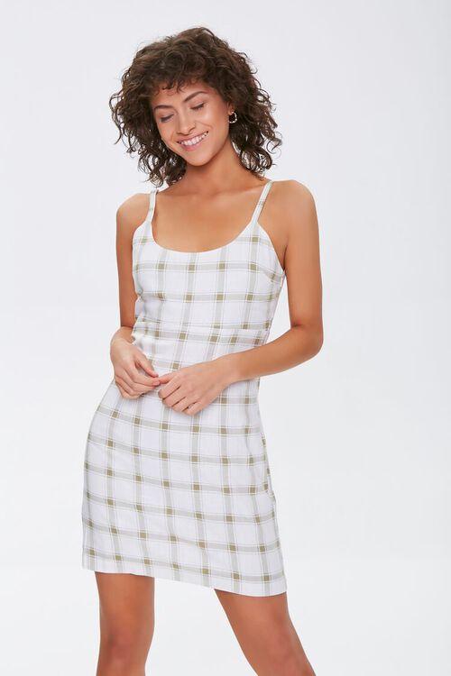 Plaid Cami Mini Dress, image 1