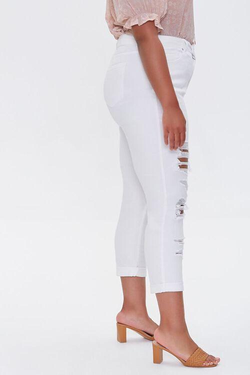 WHITE Plus Size Boyfriend Jeans, image 3