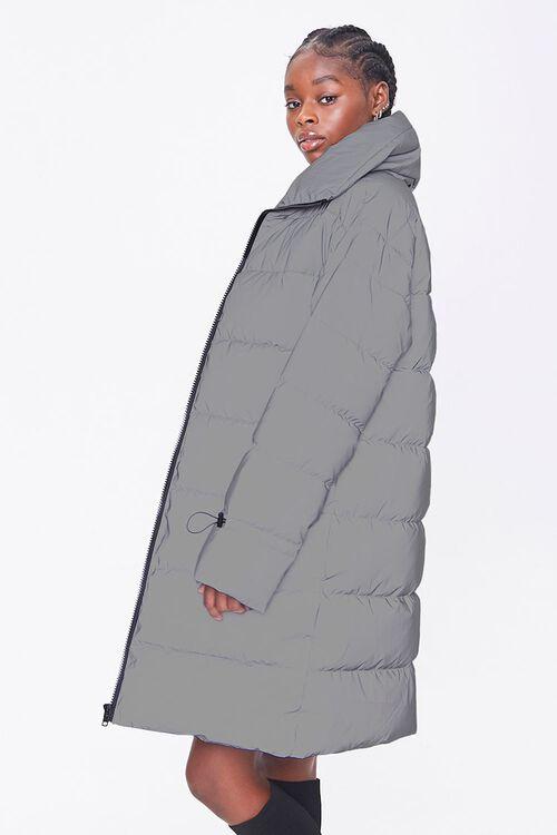 Longline Zip-Up Puffer Jacket, image 2