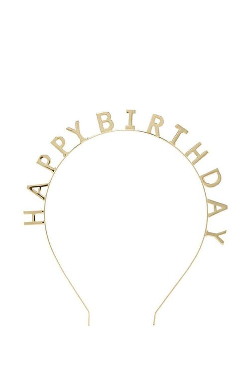 GOLD Happy Birthday Headband, image 4