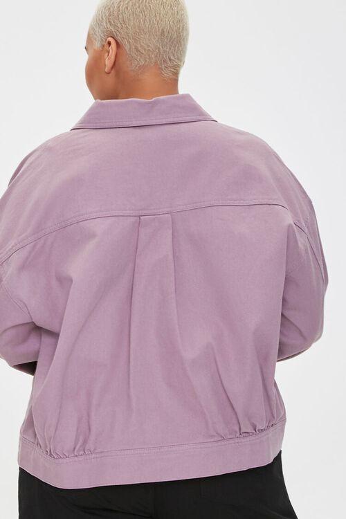 Plus Size Drop-Sleeve Twill Jacket, image 3