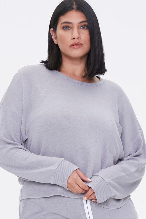 Plus Size Pullover & Shorts Set, image 5