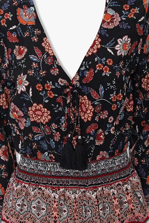 Floral Patchwork Peasant Top, image 3