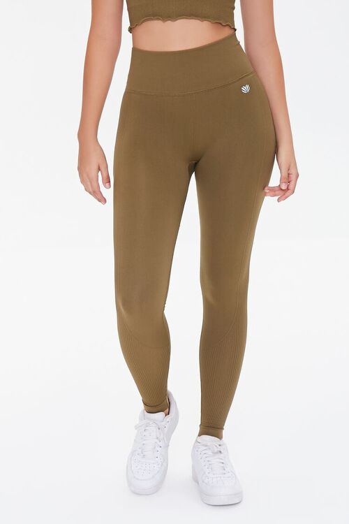 Active Seamless Ribbed High-Rise Leggings, image 2