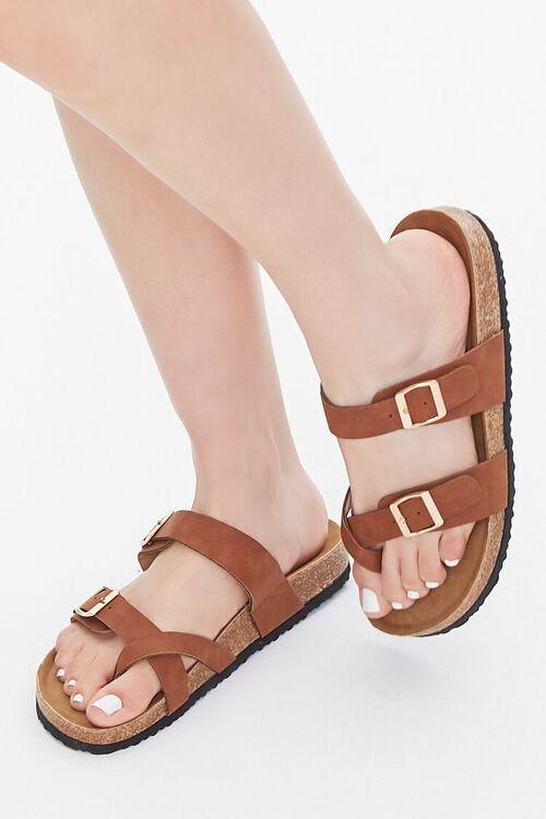 Faux Suede & Cork Flatform Sandals, image 1