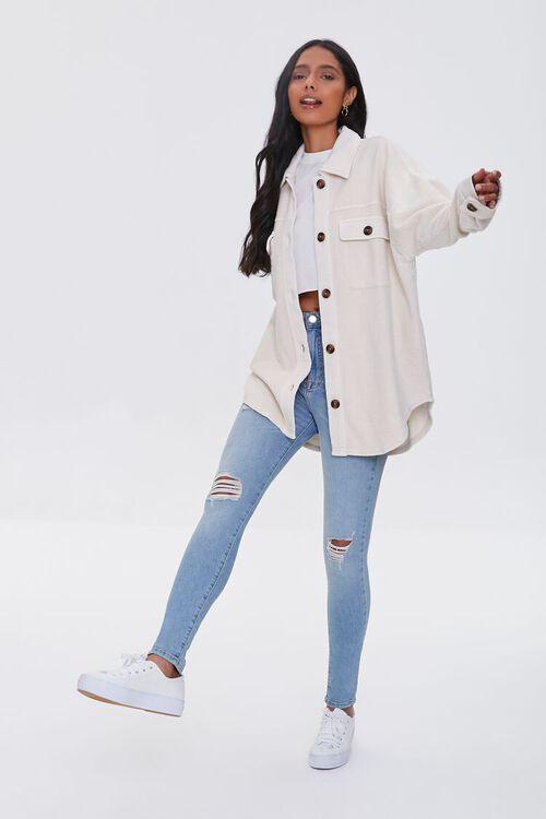 Reverse Cotton Fleece Shacket, image 4