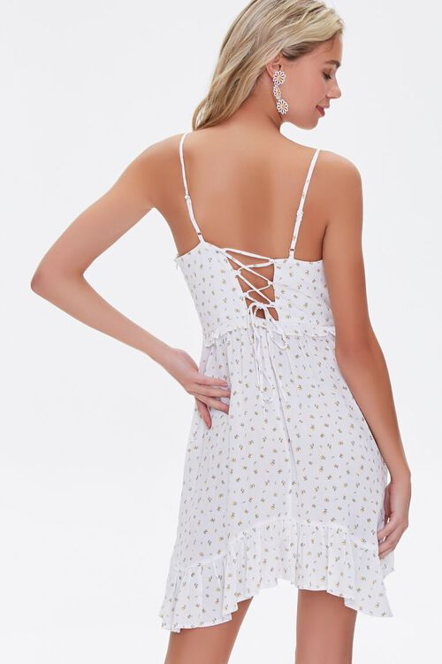 Floral Print Lace-Up Mini Dress, image 3