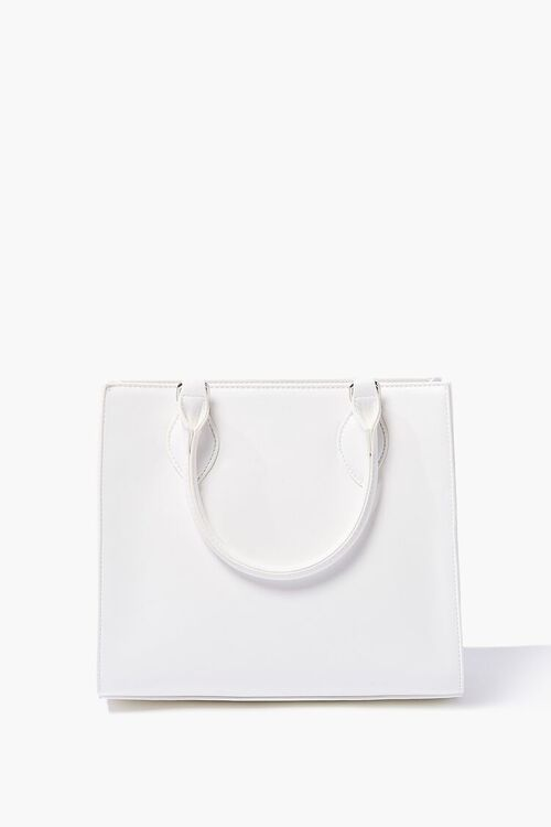 Structured Faux Leather Satchel, image 3