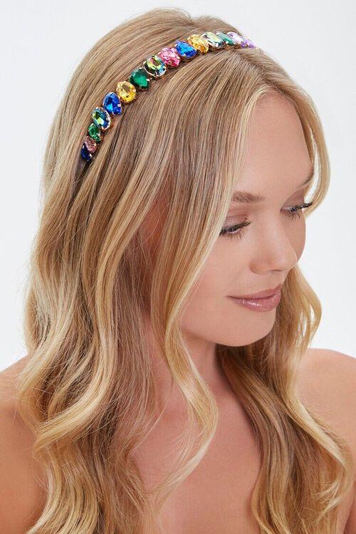GOLD/MULTI Faux Gem Headband, image 1