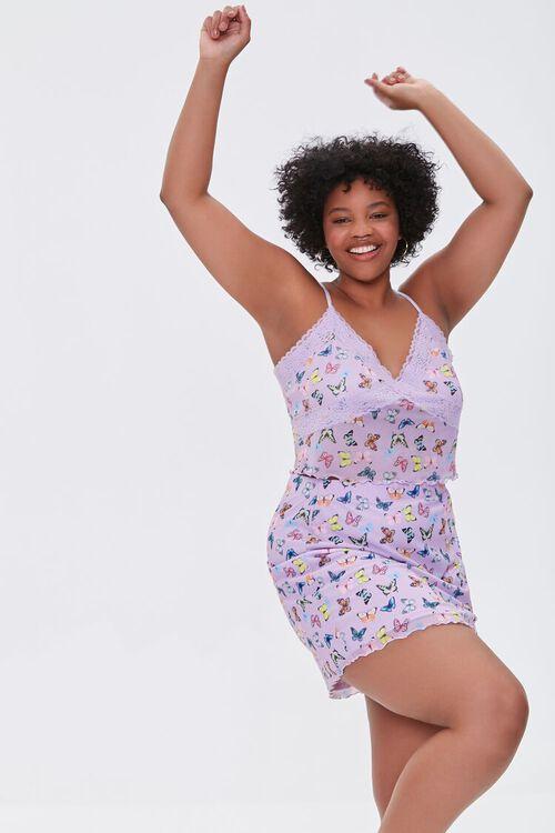Plus Size Butterfly Print Mini Skirt, image 6