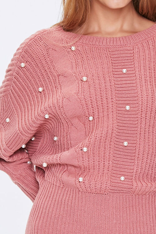 ROSE Faux Pearl Sweater Dress, image 5