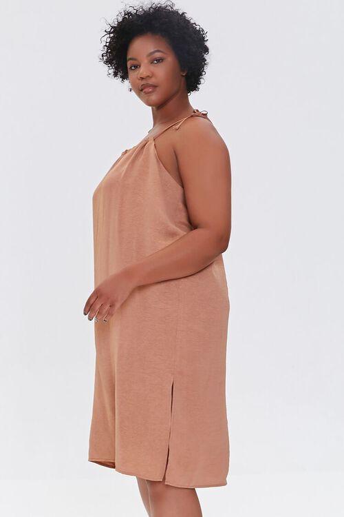 Plus Size Self-Tie Cami Shift Dress, image 2