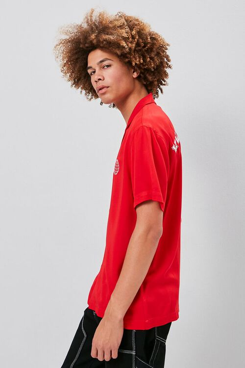 RED/WHITE Classic Fit Worldwide Shirt, image 2