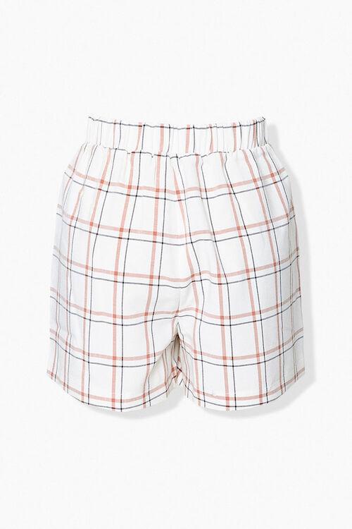 Plaid Tie-Waist Shorts, image 3