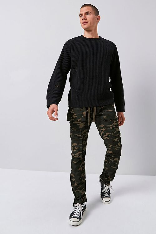 Camo Snap-Button Cargo Pants, image 1