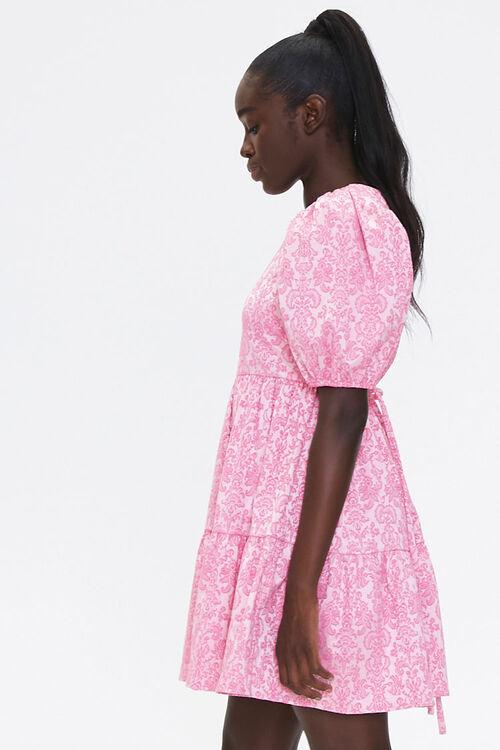 Baroque Print Mini Dress, image 2