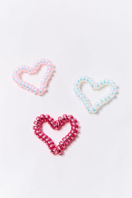 Heart Spiral Hair Tie Set, image 1