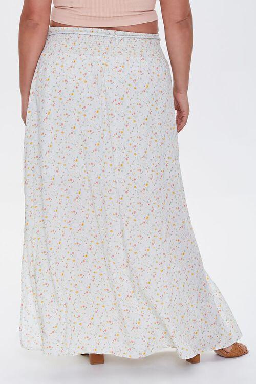 MINT/MULTI Plus Size Floral M-Slit Skirt, image 4