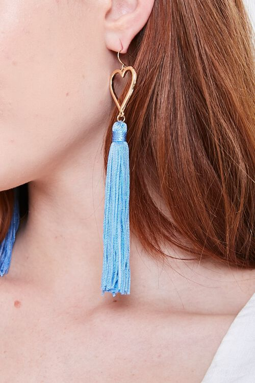 Tasseled Heart Duster Earrings, image 1
