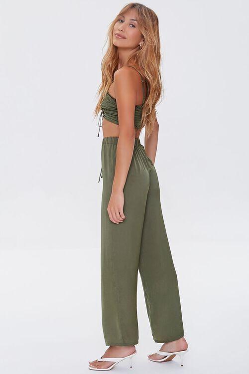 Ruched Crop Top & Drawstring Pants Set, image 2
