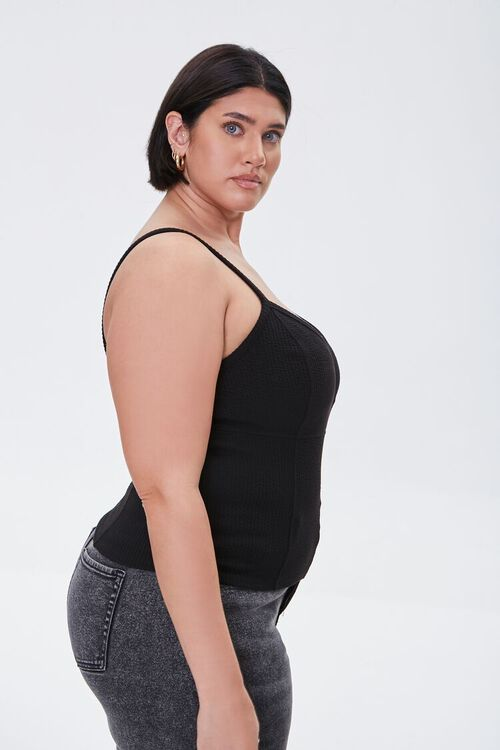 Plus Size Ribbed Knit Cami, image 2