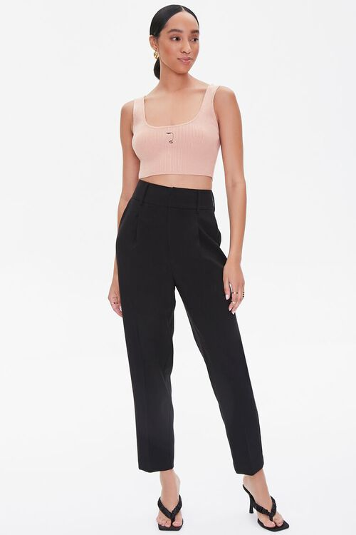 ROSE Sweater-Knit Cropped Tank Top, image 4