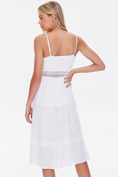 WHITE Lace-Trim Cami Dress, image 3