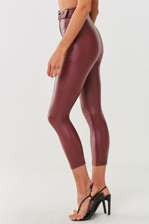 Faux Leather Ankle Pants, image 3