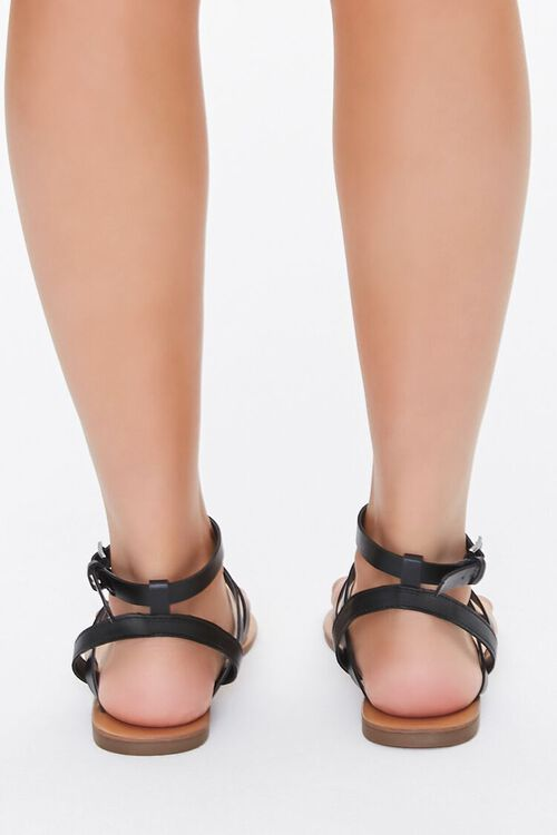 Caged Ankle-Strap Flat Sandals, image 4