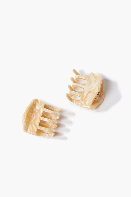 CREAM Marbled Claw Clip Set, image 1