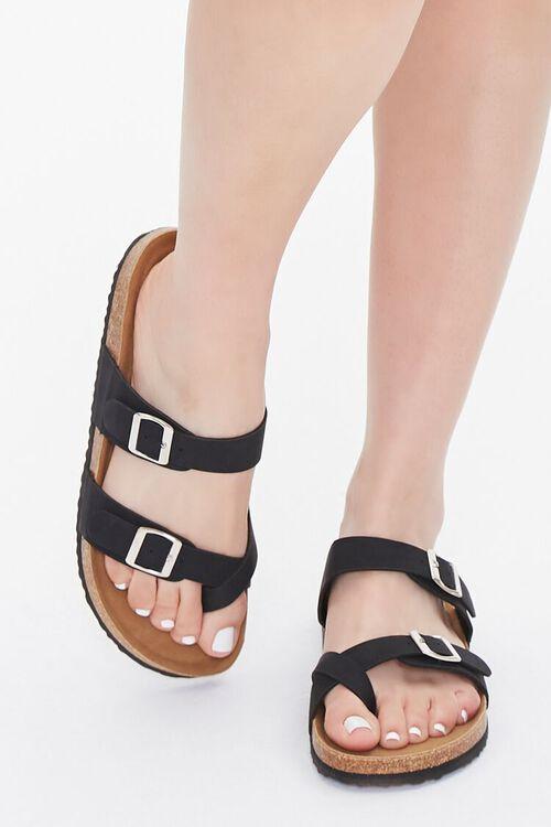 Faux Suede & Cork Flatform Sandals, image 4