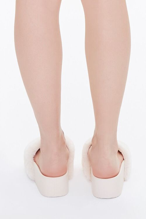 Faux Fur Wedge Slippers, image 3