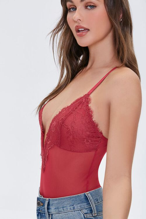 SUNSET Lace Sheer Mesh Teddy, image 3