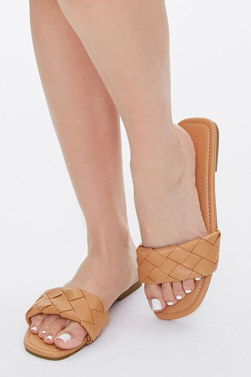 Basketwoven Faux Leather Sandals, image 5