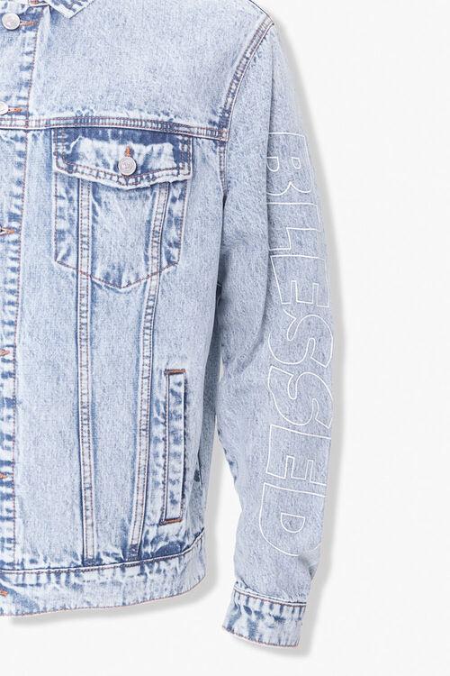 Blessed Cursed Graphic Denim Jacket, image 4