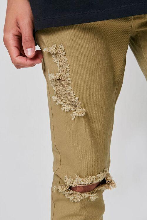 KHAKI Distressed Skinny Jeans, image 5