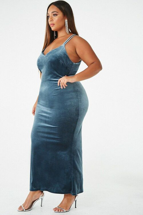 Plus Size Velvet Maxi Dress, image 2