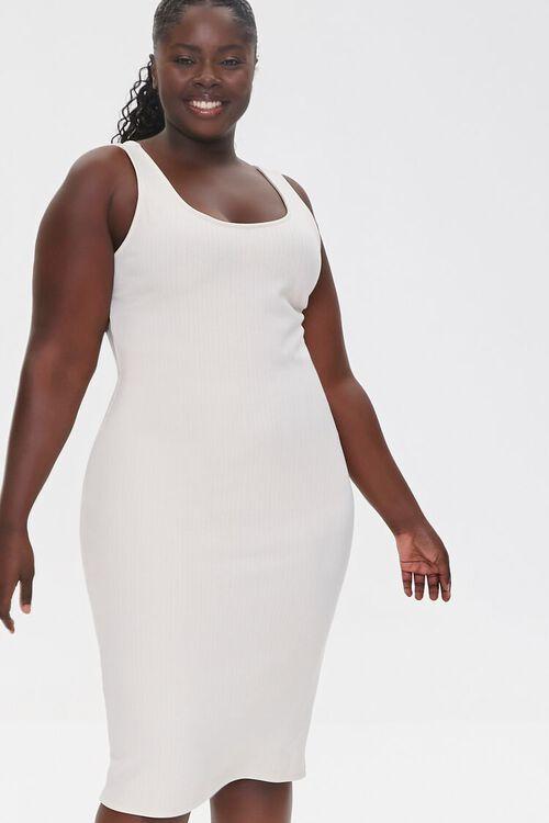 Plus Size Ribbed Tank Dress, image 1