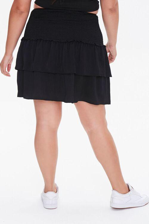 Plus Size Flounce Mini Skirt, image 4
