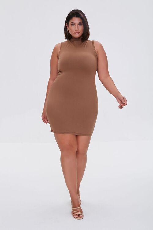 MOCHA Plus Size Mini Sleeveless Dress, image 4