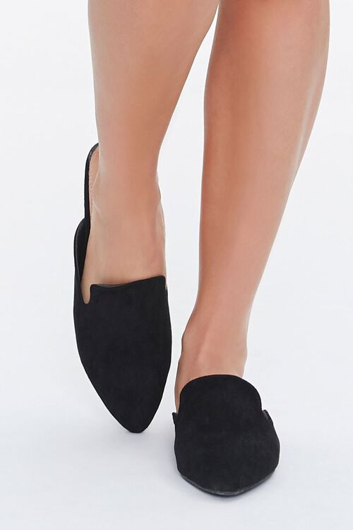 Pointed Faux Suede Mules, image 4
