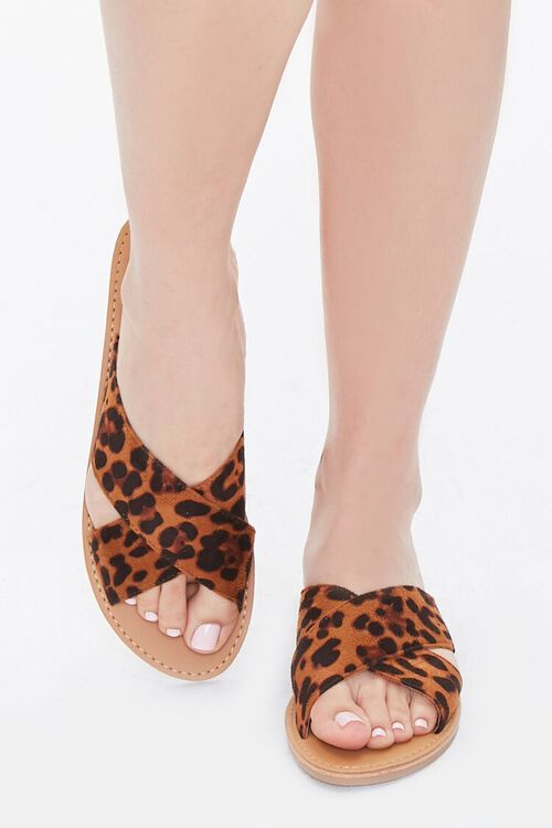 Leopard Crisscross Sandals, image 4